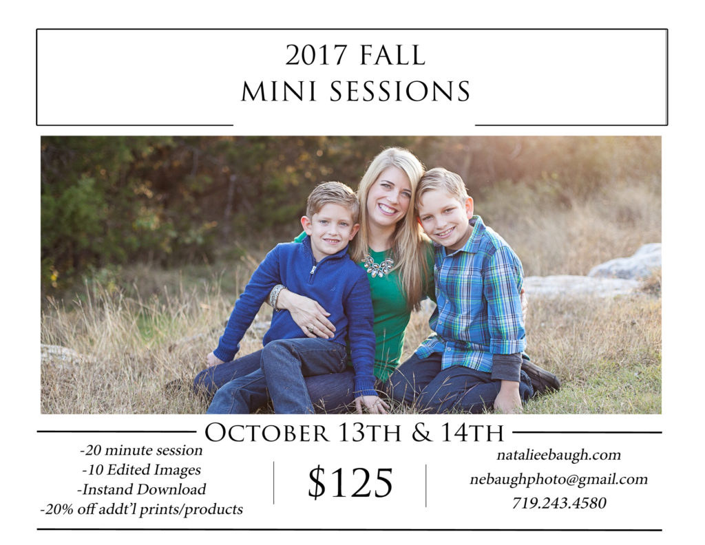 Fall mini-sessions